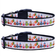 Party Owls Dog Collar