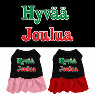 Hyvaa Joulua Dog Dress