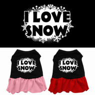 I Love Snow Dog Dress