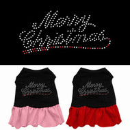 Merry Christmas Rhinestone Dog Dress