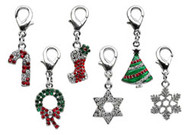 Holiday Dangling Dog Charms