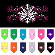Pink Snowflake Dog Bandana
