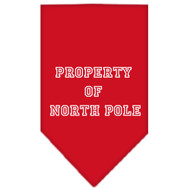 Property of North Pole Dog Bandana