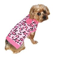 Pink Leopard Dog Sweater