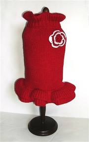 Red Holiday Sweater Dog Dress