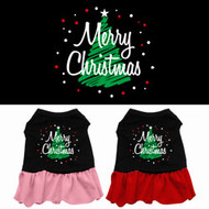 Merry Christmas Tree Dog Dress