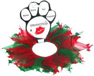Christmas Bones Party Dog Collar