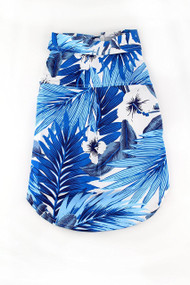 Blue Hawaiian Print Dog Shirt