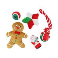 Midlee Toy Filled Christmas Dog Stocking Gift Set