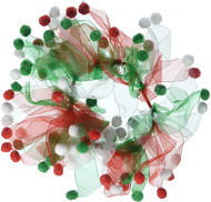 Mirage Pet Products Christmas Fuzzy Wuzzy Smoocher, Medium