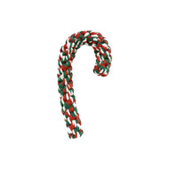 "Midlee Candy Cane 8"" Rope Dog Toy"