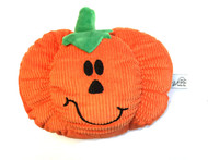Midlee Pumpkin Smiley Face Dog Toy