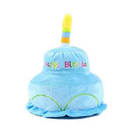 Midlee 2 Layer Birthday Cake Dog Toy by (Blue)
