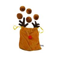 Midlee Reindeer Poop Plush Christmas Dog Toy