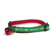 Midlee Merry Christmas Cat Collar with Safety Buckle