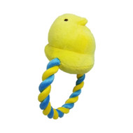 Peeps Squeaky Rope Dog Toy (Yellow Chick)