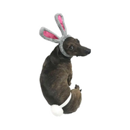 Midlee Easter Bunny Gray & Pink Rabbit Ears with Tail (Small)