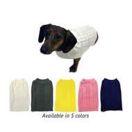 Midlee Cable Knit Dog Sweater