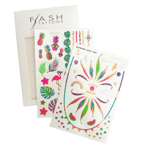 For tropical babes who love to shine bright adorn yourself in 'FOREVER PARADISE Flash Tattoos designs!    #FLASHTAT @FlashTattoos