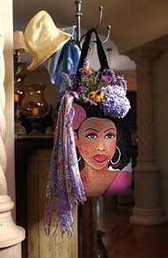 Pink Lady Tapestry Tote Bag