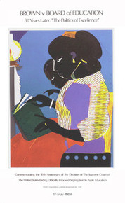 The Lamp (30th Ann. of Brown vs. Board of Education) Art Print - Romare Bearden