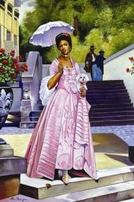 Umbrella Lady Art Print - Alix Beaujour