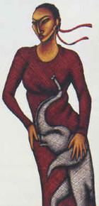 Elegance In Red (Delta) Art Print - Lashun Beal