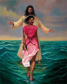 He Walks with Me Art Print (24 x 36in) - Sterling Brown