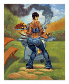 BBQ Art Print (20 x 16in) - Sterling Brown