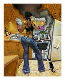 Lookin' Good Cookin' Art Print (20 x 16in) - Sterling Brown
