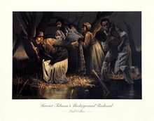Harriet Tubman's Underground Railroad (large) Art Print - Paul Collins