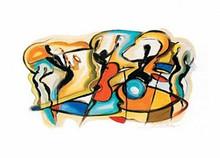 Jazz V Art Print - Alfred Gockel