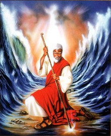 Moses Parting The Red Sea Art Print - Aaron & Alan Hicks