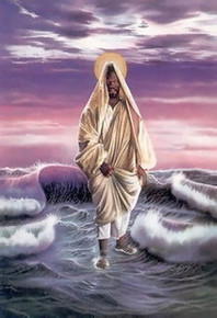Christ Walking on Water Art Print - Aaron & Alan Hicks
