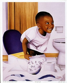 Boy Potty Kid Art Print - Aaron & Alan Hicks