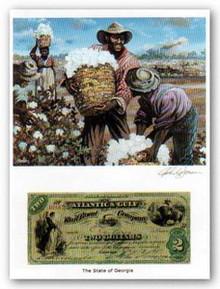 Color of Money - Georgia Slaves Art Print - John Jones