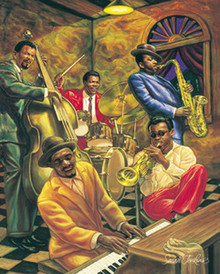 Cool Jazz (36 x 24in) Art Print - Sarah Jenkins