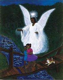 Guardian Angel Art Print - Janop