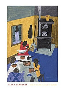 This is a Family Living in Harlem Art Print - Jacob Lawrence