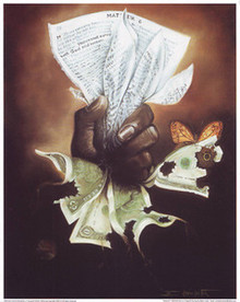 Pages or Wages Art Print - Edwin Lester