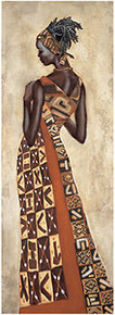 Femme Africaine II Art Print - Jacques Leconte