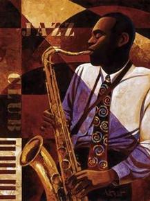 Jazz Club Art Print - Keith Mallett