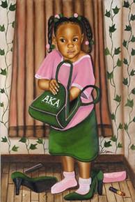 Just Like Mom - AKA Art Print - Fred Mathews