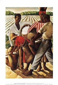Cotton Pickers Art Print - Earle Wilton Richardson