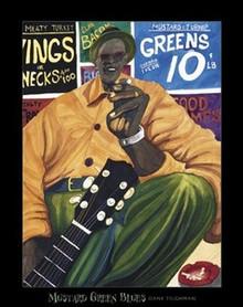Mustard Green Blues Art Print - Dane Tilgham