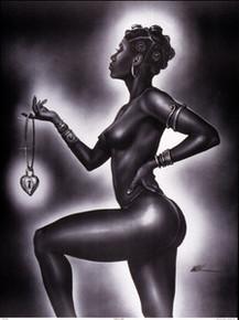 Lock and Key (Female) Art Print - Kevin A. Williams - WAK