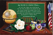 My World Is A Better Place Art Print - Mermon Woodall