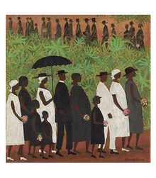 Funeral Procession (Large) Art Print - Ellis Wilson