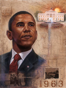 Barack Obama - In Our Lifetime Art Print - Kevin A. Williams - WAK