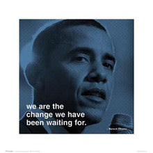 Barack Obama: We Are the Change Art Print